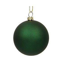 12 Inch Emerald Matte Round Shatterproof UV Christmas Ball Ornament