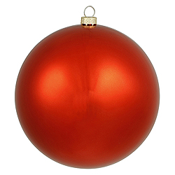 15.75 Inch Red Shiny Round Ornament