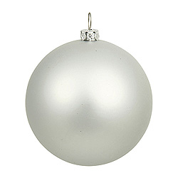 15.75 Inch Silver Matte Ball Ornament
