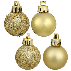 1.6 Inch Luxe Gold Assorted Finish Round Christmas Ball Ornament Set of 96