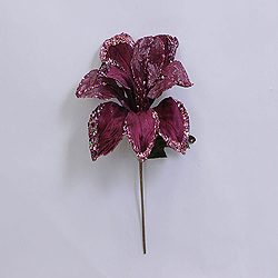 30 Inch Mauve Beaded Magnolia Flower Decoration 11 Inch Flower