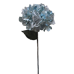 29 Inch Silver Velvet Hydrangea Artificial Flower Decoration