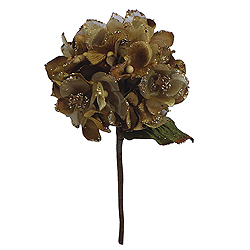 29 Inch Gold Velvet Hydrangea Artificial Flower Decoration