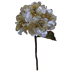 29 Inch Cream Velvet Hydrangea Artificial Flower Decoration