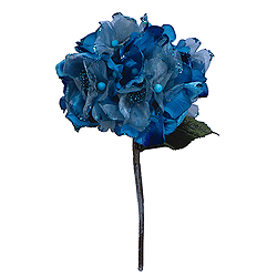 29 Inch Aqua Velvet Hydrangea Artificial Flower Decoration