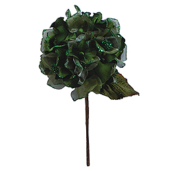 29 Inch Lime Velvet Hydrangea Artificial Flower Decoration
