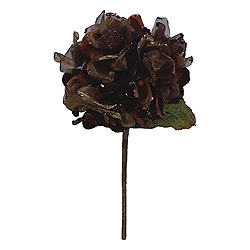 29 Inch Chocolate Velvet Hydrangea Artificial Flower Decoration