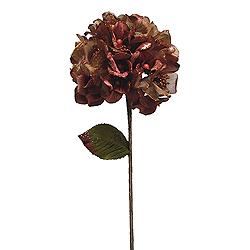 29 Inch Copper Velvet Hydrangea Artificial Flower Decoration