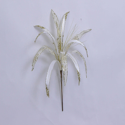 36 Inch Cream Papyrus Flower Ornament 17 Inch Flower