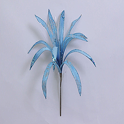 36 Inch Aqua Papyrus Flower Ornament 17 Inch Flower