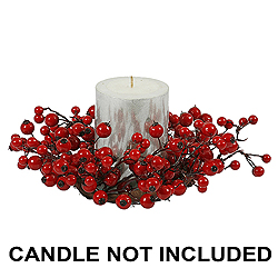 10 Inch Red Mixed Berry Candle Ring