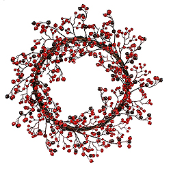 22 Inch Red And Burgundy Mixed Berry Wreath