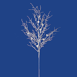 White Sparkle Berry Twig Decorative Artificial Wedding Spray Set of 6