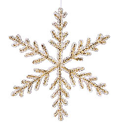 12 Inch Gold Crystal Snowflake Christmas Ornament