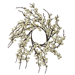 18 Inch White Berry Indoor Outdoor Christmas Wreath