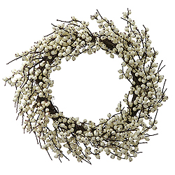 28 Inch White Berry Wreath