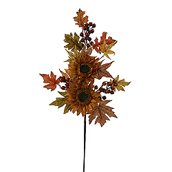 32 Inch Fall Sunflower Berry Branch