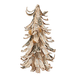 12 Inch Birch Bark Cone Berry Artificial Christmas Tree Unlit
