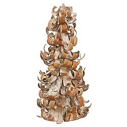 17 Inch Birch Bark Cone Artificial Christmas Tree Unlit