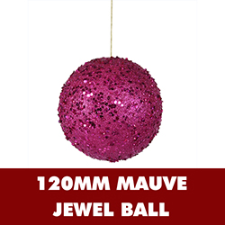 120MM Magenta Sequin Ornament
