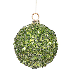 120MM Lime Sequin Ornament