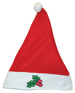 13.5 Inch Red Felt Holly Berry Santa Hat