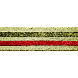 30 Foot Sage Red And Green Striped Ribbon 4 Inch Width