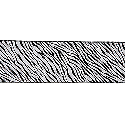 30 Foot Zebra Velvet Ribbon