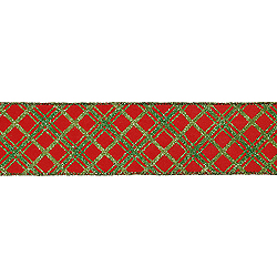 30 Foot Red And Green Swirl Dot Ribbon