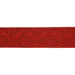 30 Foot Red And Gold Embossed Ribbon