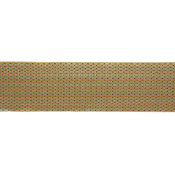 30 Foot Gold, Red And Green Diamond Ribbon