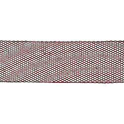 30 Foot Extra Wide Red Glitter Mesh Ribbon