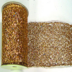 30 Foot Gold Glitter Mesh Ribbon 4 Inch Diameter