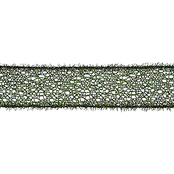 30 Foot Green Glitter Mesh Tinsel Ribbon