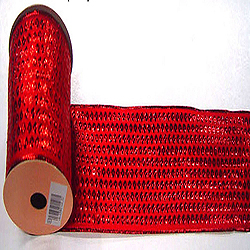 30 Foot Red Dot Ribbon 2.5 Inch Width