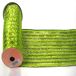 30 Foot Lime Dot Ribbon 2.5 Inch Width
