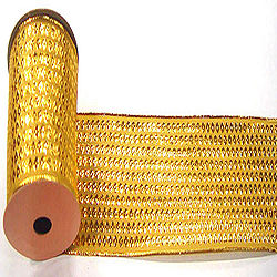 30 Foot Gold Dot Ribbon 2.5 Inch Width