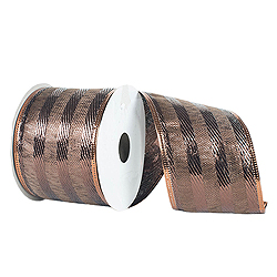 30 Foot Mocha Striped Ribbon
