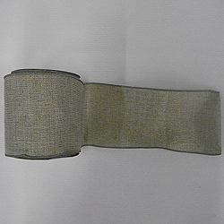 30 Foot Sage Mesh Gold Ribbon 2.5 Inch Width