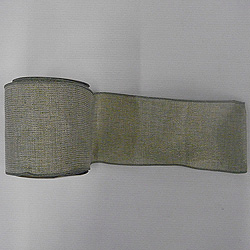 30 Foot Sage Mesh Gold Ribbon 4 Inch Width