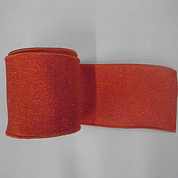 30 Foot Orange Sparkle Burlap Ribbon 4 Inch Width