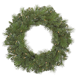 30 Inch Sierra Pine Wreath 70 Clear Lights