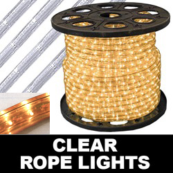 150 Foot Rectangle Clear Rope Lights 18 Inch Increments