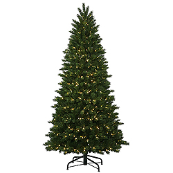 7.5 Foot Oregon Fir Instant Artificial Christmas Tree 600 LED Warm White Lights