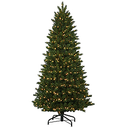 10.5 Foot Oregon Instant Artificial Christmas Tree 1200 DuraLit Clear Lights