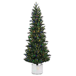 6 Foot Stockton Spruce Artificial Christmas Tree 300 LED Multi Lights