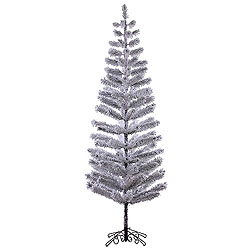 9 Foot Flocked Feather Artificial Christmas Tree Unlit