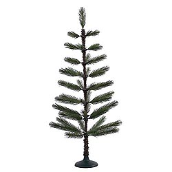 4 Foot Green Feather Artificial Christmas Tree Unlit