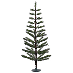 5 Foot Green Feather Artificial Christmas Tree Unlit