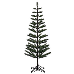 7 Foot Green Feather Artificial Christmas Tree Unlit